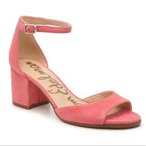 Sam Edelman Susie Suede Ankle Strap Sandal, Sz 7